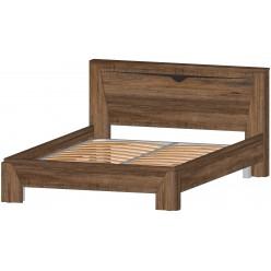 Серия Регина кровать 2х сп. 1400 дуб самдал