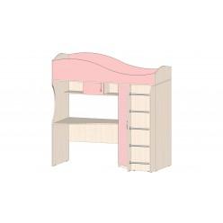 Детская Буратино Кровать-чердак розовый