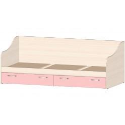 Детская Буратино Кровать с ящиками розовый