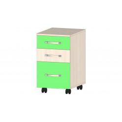 Детская Буратино Тумба с ящиками зелёный