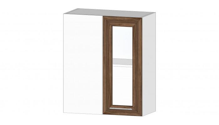 Кухня Ривьера шкаф витрина угловой дуб самдал