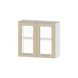 Кухня Ривьера шкаф витрина 800 ясень шимо светлый