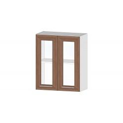 Кухня Ривьера шкаф витрина 600 ясень шимо темный