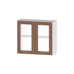 Кухня Ривьера шкаф витрина 800 ясень шимо темный