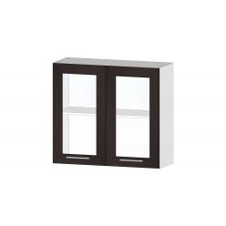 Кухня Ривьера шкаф витрина 800 венге