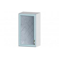 Кухня Кантри шкаф витрина 400 массив скай