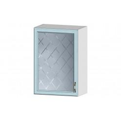 Кухня Кантри шкаф витрина 500 массив скай