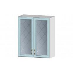 Кухня Кантри шкаф витрина 600 массив скай