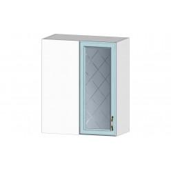 Кухня Кантри шкаф витрина угловой массив скай