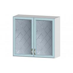 Кухня Кантри шкаф витрина 800 массив скай