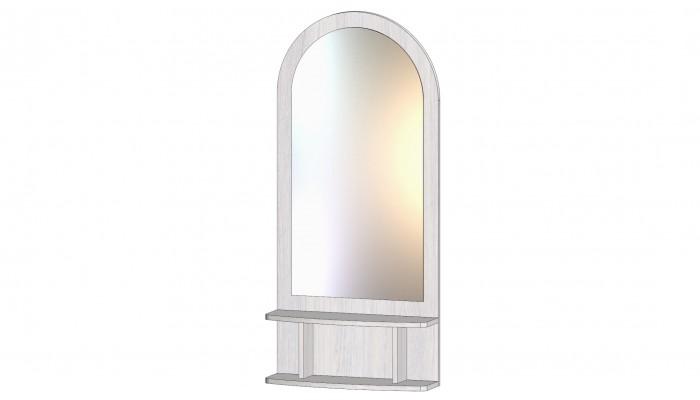 Зеркало с полкой анкор светлый